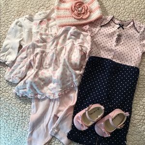 Girl's pink and blue bundle